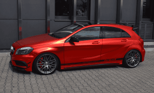 Mercedes A 45 AMG in Rot Chrom Matt foliert