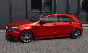Mercedes A 45 AMG in Rot Chrom Matt foliert