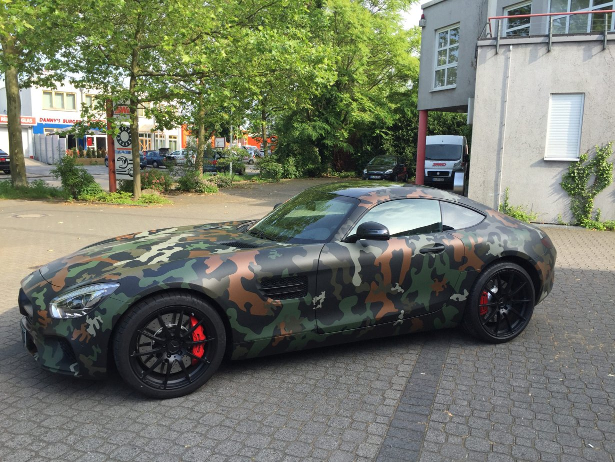 mercedes gt amg matt schwarz camouflage archive folien experte. Black Bedroom Furniture Sets. Home Design Ideas