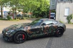 Mercedes GT AMG Matt Schwarz Camouflage