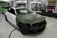 BMW 4er Matt Olivgrün