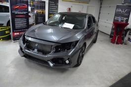 Honda Civic KPMF Matt Iced Blue Titanium1