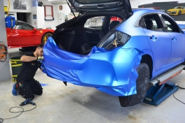 Honda Civic KPMF Matt Iced Blue Titanium3